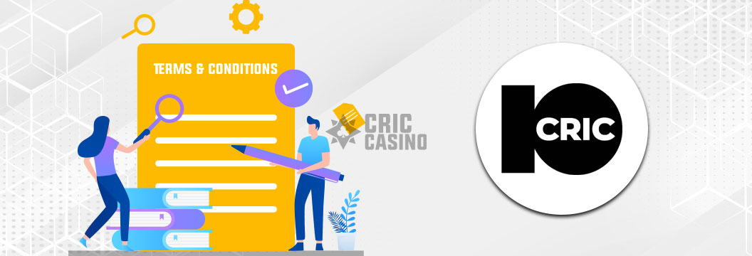 10cric casino india - terms and conditions